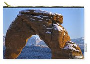 Detail Of Delicate Arch With Snow Arches National Park Utah Carry-all Pouch