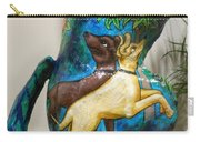 Detail Of Hunt For The Unicorn On A Full Moon Carry-all Pouch by Genevieve Esson