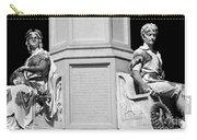 Detail Of Monument Statues - Bw Carry-all Pouch