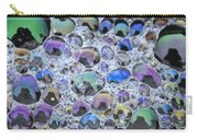 Detail Of Rainbow-colored Bubbles Carry-all Pouch