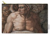 Detail Of The Last Judgment Carry-all Pouch by Michelangelo