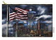 Detroit Mi Usa Flag Carry-all Pouch