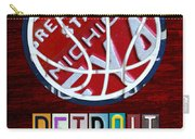 Detroit Pistons Basketball Vintage License Plate Art Carry-all Pouch by Design Turnpike