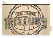 Detroit Pistons Poster Art Carry-all Pouch