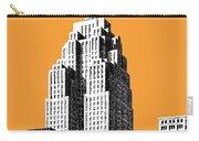 Detroit Skyline 2 - Orange Carry-all Pouch