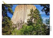 Devil's Tower Through The Trees Carry-all Pouch