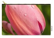 Dew Droplets On Pink Carry-all Pouch