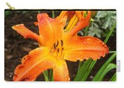 Dew Drops On Golden Lily Carry-all Pouch