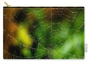 Dew Drops On Spider Web  Carry-all Pouch