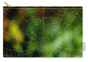 Dew Drops On Spider Web 3 Carry-all Pouch