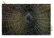 Dew Drops On Spider Web 5 Carry-all Pouch