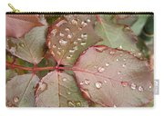 Dew Drops On The Rose Leaves Carry-all Pouch