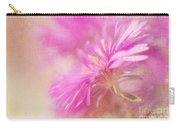 Dewy Pink Asters Carry-all Pouch by Lois Bryan