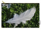 Dewy Swan Feather Carry-all Pouch