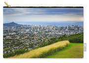 Diamond Head And The City Of Honolulu Carry-all Pouch