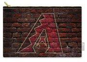 Diamondbacks Baseball Graffiti On Brick  Carry-all Pouch by Movie Poster Prints