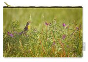 Dickcissel And Flowers Carry-all Pouch