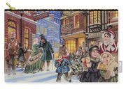 Dickensian Christmas Scene Carry-all Pouch by Angus McBride