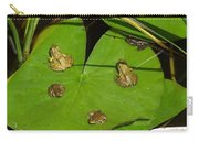 Different Stages Of Frog Growth Carry-all Pouch