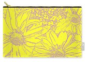 Digital Cone Flowers Drawing Carry-all Pouch