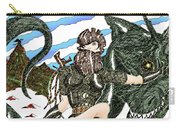 Digital Dragon Rider Colour Version Carry-all Pouch