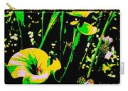 Digital Green Yellow Abstract Carry-all Pouch