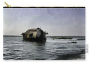 Digital Oil Painting - A Houseboat Moving Placidly Through A Coastal Lagoon Carry-all Pouch