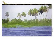 Digital Oil Painting - Water Rippling In The Coastal Lagoon Carry-all Pouch