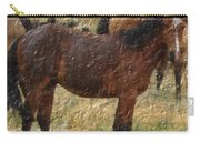 Digital Oil Painting Horses Carry-all Pouch