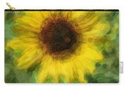 Digital Painting Series Sunflower Carry-all Pouch