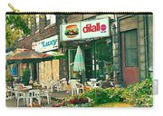 Dilallo Burger Diner Paintings Originalclassic Vintage Burger Joint St Henri St Catherine Cityscene  Carry-all Pouch