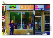 Dilallo Burger Notre Dame Ouest And Charlevoix  Montreal Art Urban Street Scenes Carole Spandau Carry-all Pouch