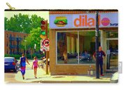 Dilallo Notre Dame Ouest And Charlevoix Sunny Street Montreal Urban City Scene Carole Spandau Carry-all Pouch