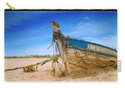 Dilapidated Boat At Ferragudo Beach Algarve Portugal Carry-all Pouch
