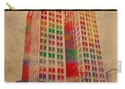 Dime Building Iconic Buildings Of Detroit Watercolor On Worn Canvas Series Number 1 Carry-all Pouch by Design Turnpike
