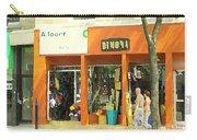 Dimona Latin Quarter Romantic Morning Summer Stroll Pretty Streets Montreal City Scene C Spandau Carry-all Pouch