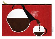 Diner Coffee Pot And Cup Red Pouring Carry-all Pouch