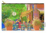 Dinner On The Terrace Le Murphy Boire Et Manger French Bistro Montreal Cafe Street Scene Carry-all Pouch
