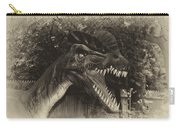 Dino's At The Zoo Come Here Cameraman In Heirloom Finish Carry-all Pouch