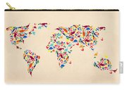 Dinosaur Map Of The World  Carry-all Pouch