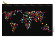 Dinosaurs Map Of The World   Carry-all Pouch by Mark Ashkenazi