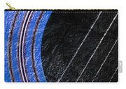Diptych Wall Art - Macro - Blue Section 1 Of 2 - Giants Colors Music - Abstract Carry-all Pouch