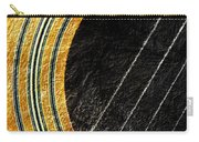 Diptych Wall Art - Macro - Gold Section 1 Of 2 - Vikings Colors - Music - Abstract Carry-all Pouch