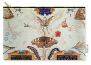 Diptych With Flowers And Insects Carry-all Pouch