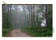 Dirt Path In Forest Woods With Mist Carry-all Pouch