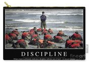 Discipline Inspirational Quote Carry-all Pouch