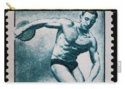 Discus Vintage Postage Stamp Print Carry-all Pouch