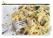 Dish Of Spaghetti With Clams Carry-all Pouch