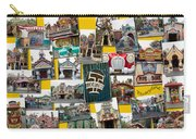 Disneyland Toontown Yellow Collage Carry-all Pouch