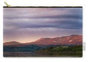 Distant Yukon Mountains Glowing In Sunset Light Carry-all Pouch
